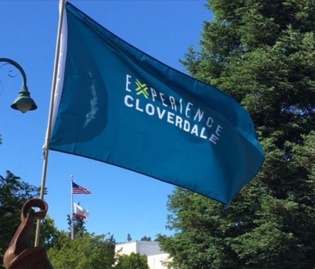Flag that says experience cloverdale